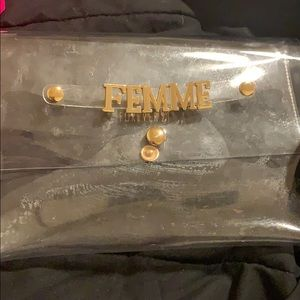 Clear forever 21 clutch